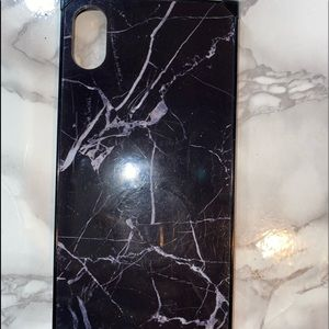 Square iPhone XS Max marble case